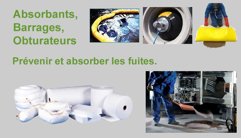 Absorbants et obturateurs de canalisation