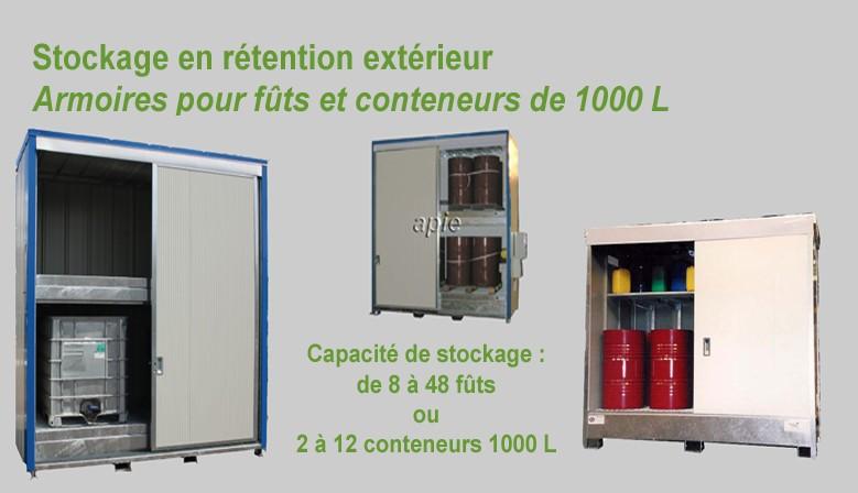 Arlmoires de stockage pour futs et conteneurs
