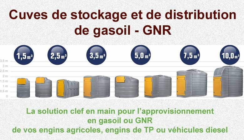 Cuves de stockage et distribution de gasoil - GNR