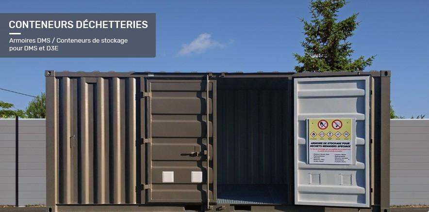 Conteneurs déchetteries, Armoires DMS / Conteneurs DMS pour DMS et D3E